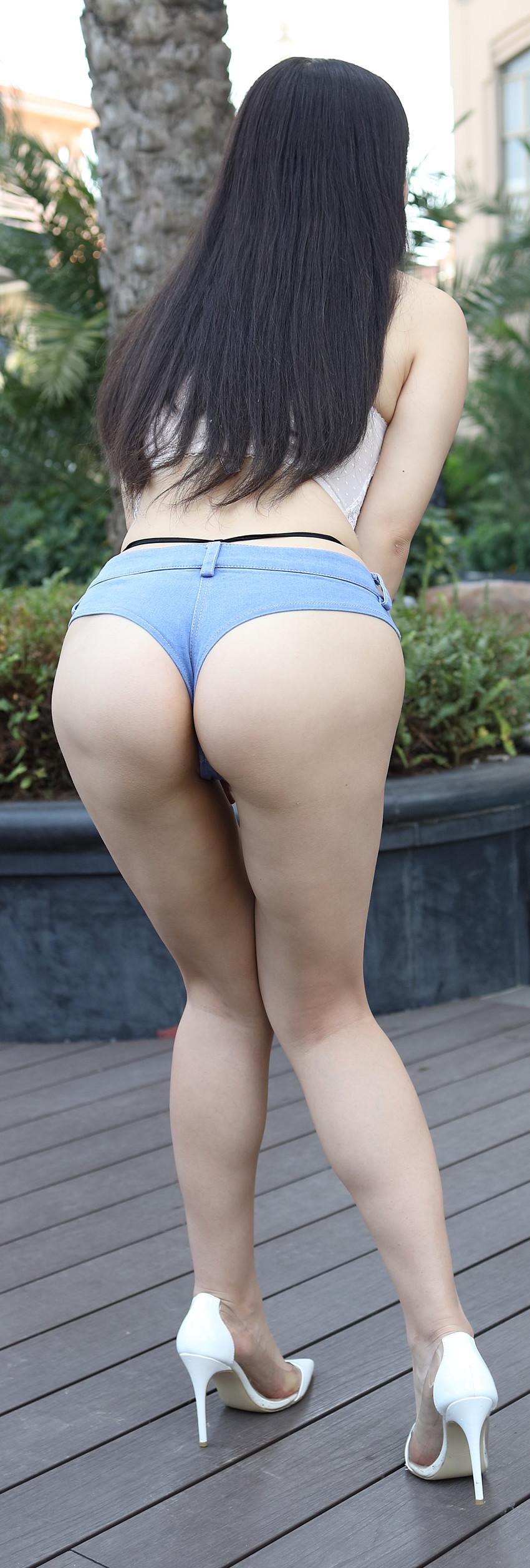 超短牛仔热裤