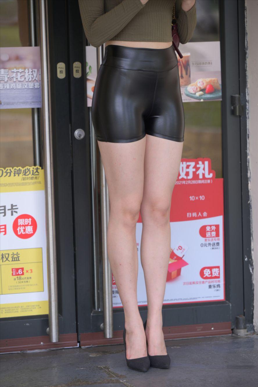 皮革热裤(套图+视频)