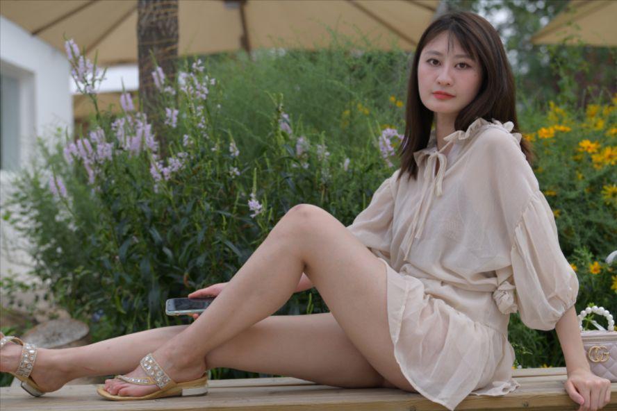 褐色纱裙美女